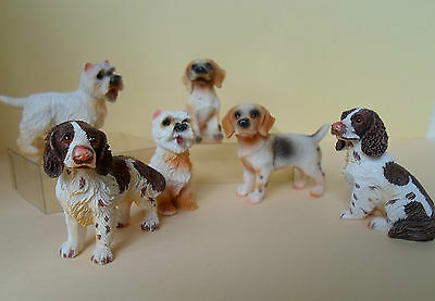 Dolls House Miniature Animals~Dogs~Beagles~Westies~Spaniels~Resin 1:12