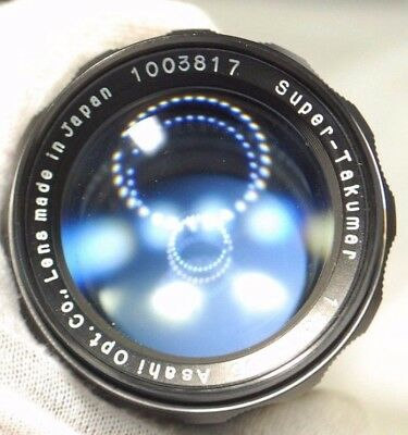 Super-Takumar Lens 135mm f3.5 with Leather Case Lens Used