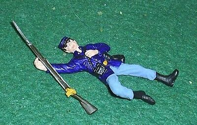 TOY SOLDIERS  TIN AMERICAN CIVIL WAR DEAD UNION SOLDIER 54MM