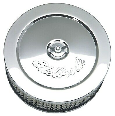 Edelbrock 1209 Pro-Flo Chrome 6'' Round Air Cleaner Filter