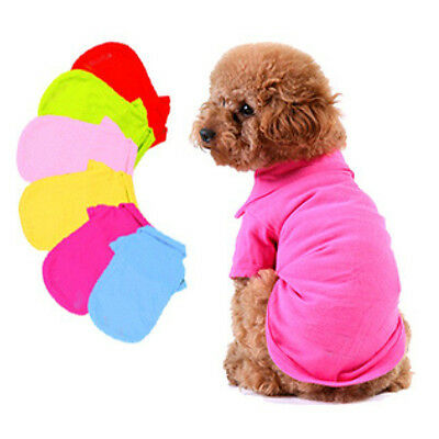 Cute NWT Pet Doggy Apparel Dog Cool Puppy T-Shirts Clothes Size XS S M L