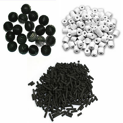 Jebao Filter Media Pick n Mix Sets of Bio Balls, Ceramic Rings Activated Carbon