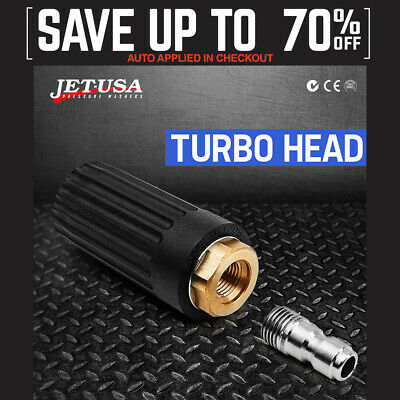 NEW Jet-USA Turbo Head Nozzle for High Pressure Washer Water Cleaner 2500 PSI