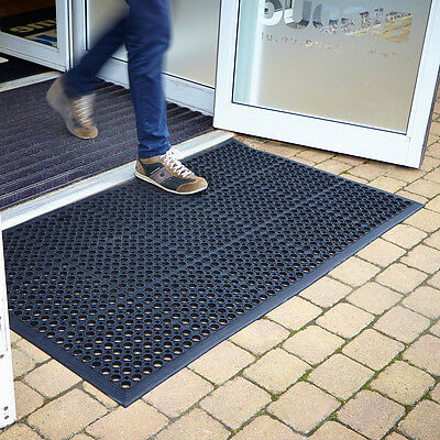 Large Outdoor Entrance Mats Rubber Saftey Mat Flooring Heavy Duty Mats 3 Sizes
