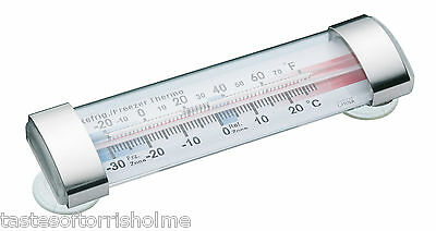 Kitchen Craft Horizontal Strip Fridge Freezer Thermometer With Suction Cups