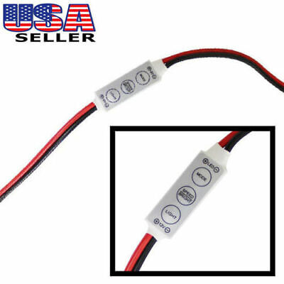 12V Wired Control Module w/ Strobe Flash For Car or Household LED Strip or Bulbs
