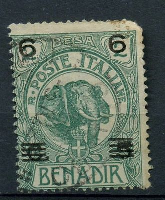 Somalia 1923 SG#37, 6 On 5c On 2b Elephant Used #A41907