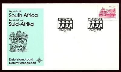South Africa 1984 Pinegowrie, Date Stamp Card #C10107