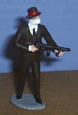 TOY SOLDIERS TIN AMERICAN 1930'S GANGSTER BANK ROBBER WITH TOMMY GUN #2  54MM
