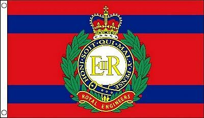 British Army Royal Engineers Corps 5'x3' Flag *** Great Quality for Under £5 ***