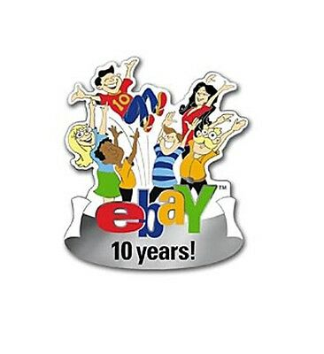 eBay 10TH ANNIVERSARY Lapel PIN from 2005 Limited Ed of 500 RARE New