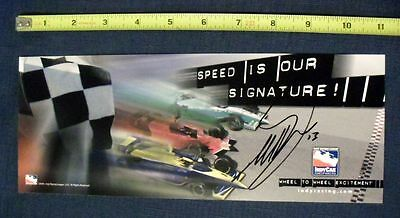 *mark Taylor* Hand Signed Promo Photo W/coa *indycar Series * Indy Racing 7613