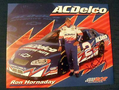 *RON HORNADAY #2*HAND SIGNED PROMO PHOTO W/COA 8x10 *ACDelco AUTO PARTS* 7613