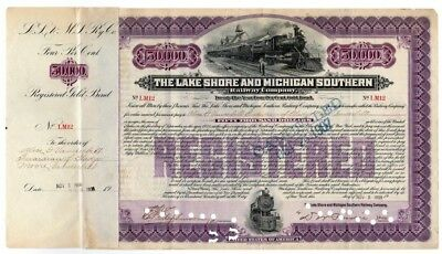 The Lake Shore and Michigan Southern Railway Co. bond - Vanderbilt