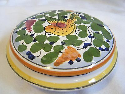 Marisa & Antica Pottery Trinket Treasure Jewelry Box Bird & Floral Design