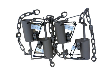 4 New Duke Traps DP Dog Proof Coon Traps  Lil Griz Type  Trapping  Raccoon 0510