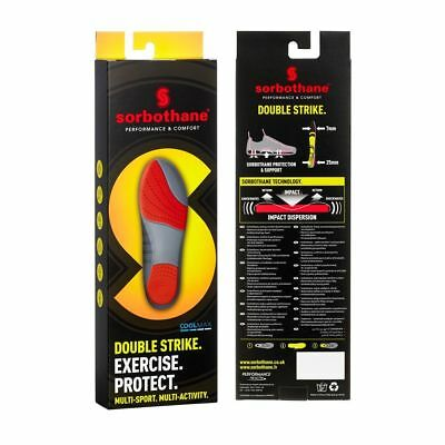 SORBOTHANE DOUBLE STRIKE INSOLES Antibacterial CoolMax Trimmable Injury Therapy