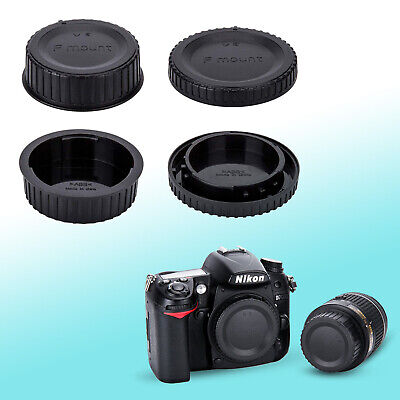 Camera Body + Rear Lens Cap Cover Set for Nikon D7000 D5100 D3000 D90 D3 D2X D1