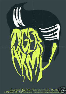 TIGER ARMY * Rare Limited Edition Concert Poster *