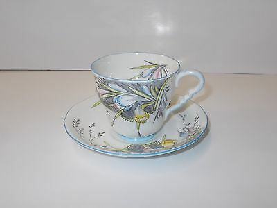 Fine English Bone China Cup and Saucer- Royal Stafford Floral Pattern Flowers