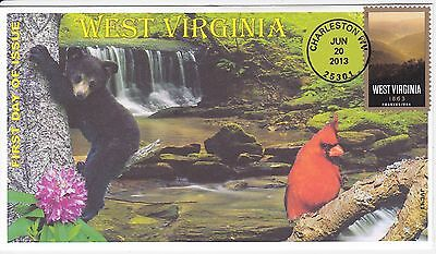Jvc Cachets - 2013  West Virginia Statehood  Issue First Day Cover Fdc #1