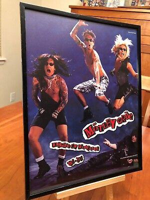 "Big 11X14 Framed Original Motley Crue ""decade Of Decadence"" Lp Album Cd Promo Ad"