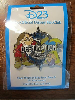 Disney D23 Destination D 75 Years Animated Features Pin SNOW WHITE  LE1500