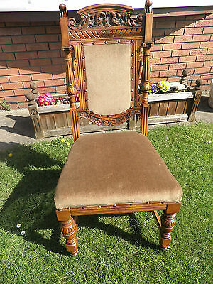 4 Carved Victorian Dining Chairs