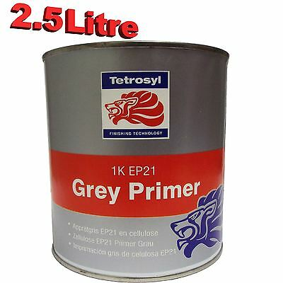 Tetrosyl 1K Cellulose High Build Grey Primer 2.5L Car Industrial Celly EP21 FP