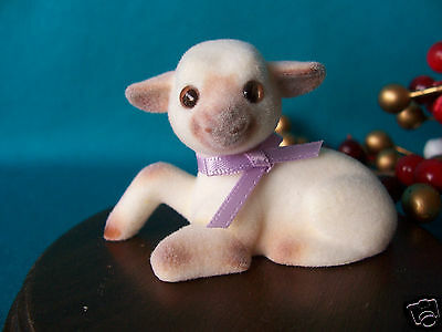 Hallmark Merry Miniature 1985 Flocked Lamb