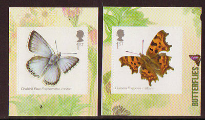Great Britain 2013 Butterflies Self Adhesive Pair Unmounted Mint, Mnh.