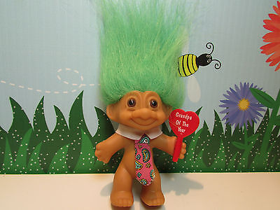 """GRANDPA OF THE YEAR - 3"""" Russ Troll Doll - NEW IN ORIGINAL WRAPPER - Last Ones"""