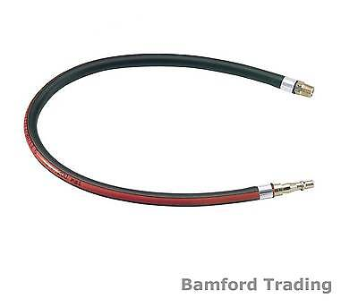 """Draper 600mm 1/4"""" BSP Air Line Whip Hose with Male Fittings for Compressor Tools"""
