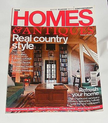 Homes & Antiques Magazine February 2005 - Real Country Style/furniture Treasures