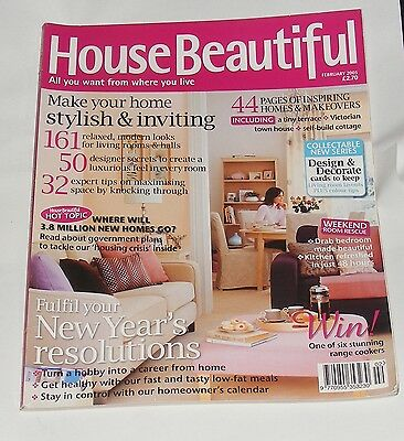 House Beautiful February 2005 - Fulfil Your New Year's Resolutions