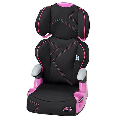 Evenflo AMP High Back 2-in-1 Booster Car Seat Baby Child Safety Gear Pink Angles