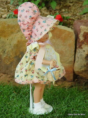 "Retired Effanbee Patsy Joan  *~* Sunbonnet Sue *~*  16 "" Doll With basket"