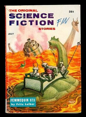 THE ORIGINAL SCIENCE FICTION STORIES 7/57 issue Kelly Freas Cover