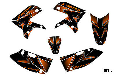 3M Aufkleber Set XB-31 Xmotos Dirt bike,Enduro,Motocross Schwarz