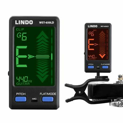 Lindo WST-650LD Clip-On Acoustic Electric Guitar Bass Digital Tuner Electronic