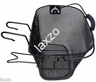 Oxford OF559 Front Wire Ladies Shopping Basket Luggage Handlebar Hook Cycle