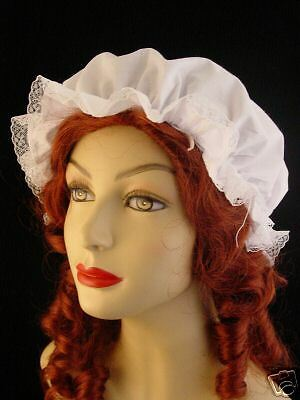 Colonial Victorian Regency Maid ren-fair wench mob mop cap  new in package
