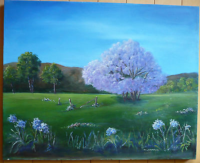 $99 OR BEST! vintage impressionist landscape colorful colorism Country scene oil