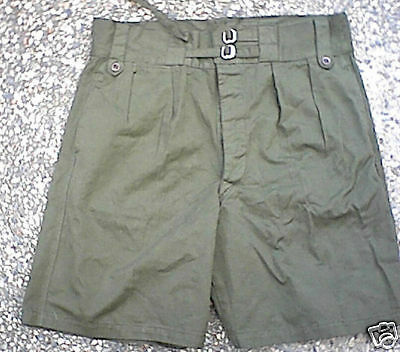 "GREEN ISSUE SHORTS - WW2 & KOREA AUSTRALIAN ARMY ISSUE 42"" (107cm) UNISSUED"