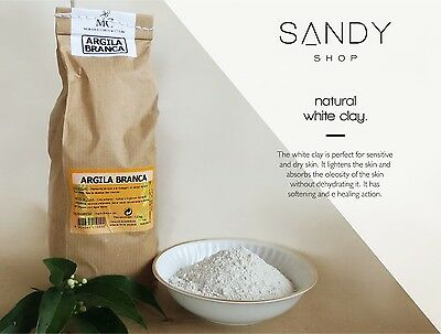 Pure Organic White Clay Kaolin Fine Powder Face Mask – 1000g / 500g / 250g / 25g