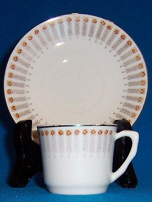 Vintage Nice Condition Demitasse Cup & Saucer Made in China Very Delicate