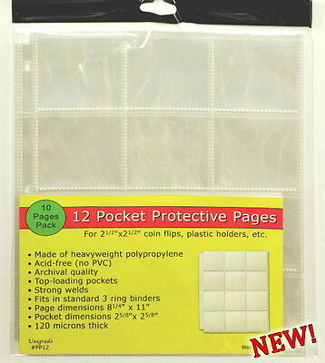 250 pages (TWENTY-FIVE PACKS) of 12 pocket pages for 2 1/2 x 2 1/2, or ICCS