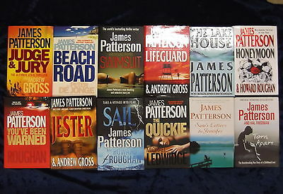 12 Gripping Novels By James Patterson //Hardbacks//**Uk Freepost**