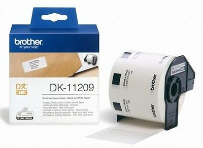 Brother P-touch DK-11209 (29mm x 62mm) Black On White Small Address Labels (800