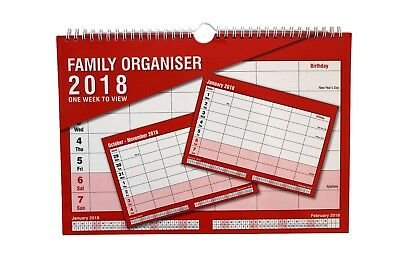 2017 family organiser 1 weeks to view wall calendar - CL-0673